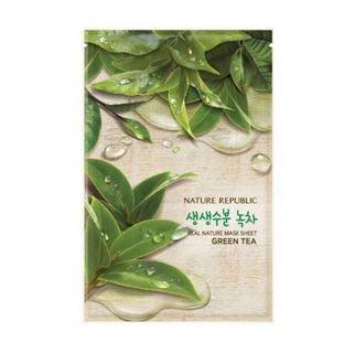 🚚 Nature Republic Real Nature Green Tea Sheet Mask (price per piece)