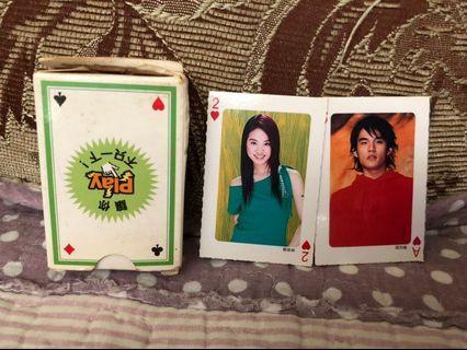 🚚 復古 90年代 偶像 迷你撲克牌