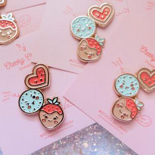Cheeky Chocos Enamel Pin