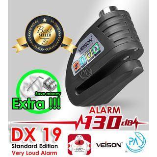 Lock VEISON DX19 Original Very Loud Motorcycle & Bicycle Alarm / Disc Brake Lock