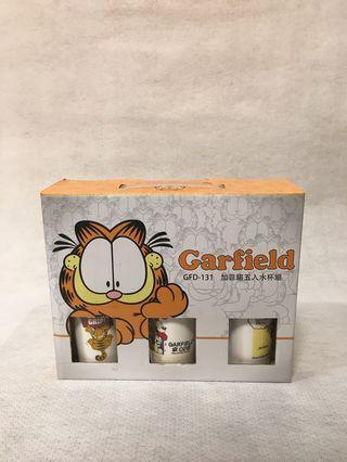 🚚 加菲貓茶杯五入-禮盒