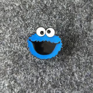 Cookie Monster Enamel Pin Free Delivery