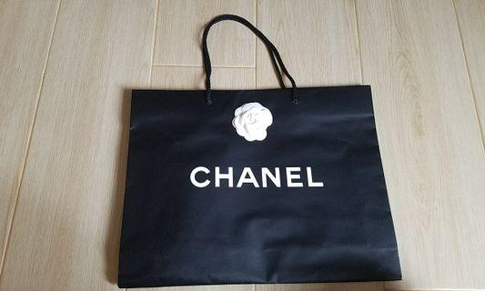 Chanel Paper Bag 大 中 紙袋 花 絲帶