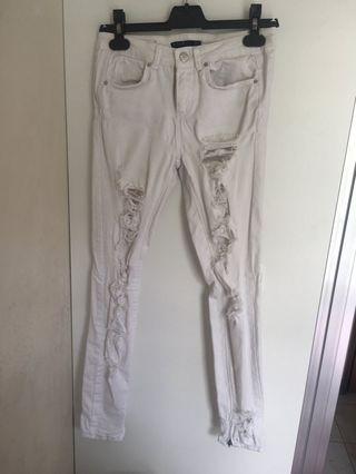 Zara White Jeans 白色牛仔褲