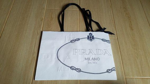 Prada Paper Bag 中 紙袋 絲帶