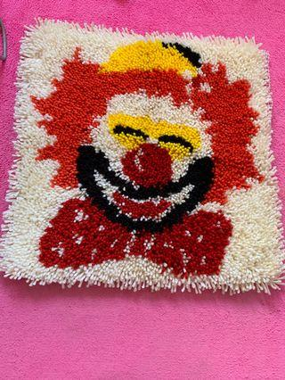 Knit clown art