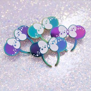 Minnie Mouse Ears Chrome Enamel Pin