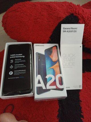 Samsung Galaxy A20 mulus 100% baru 4 hari