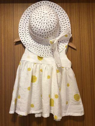🚚 Baby dress and hat