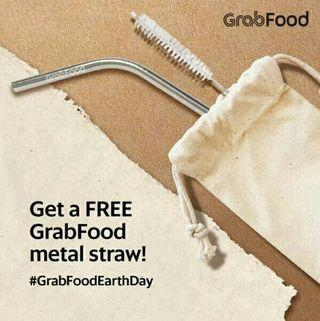 🆕GrabRewards Metal Straw & Brush