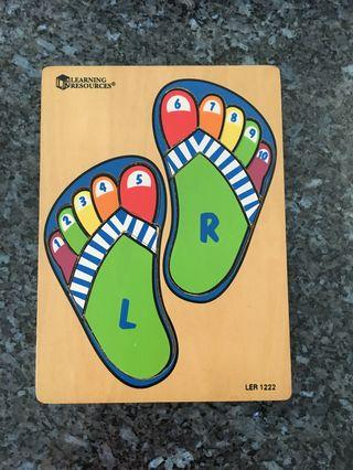 🚚 Wooden puzzle - feet & toes