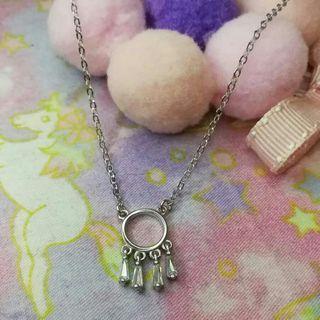 閃石水晶民族風頸鏈#耳環頸鏈套裝