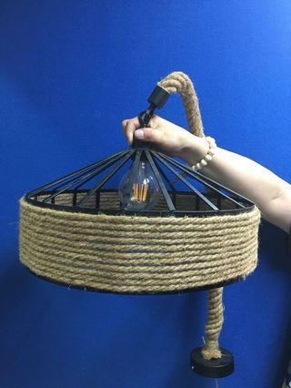 Display 工業風麻繩金屬吊燈