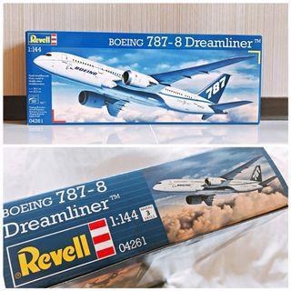 Revell利華波音飛機模型 BOEING 787-8 DREAMLINER #04261 (全新1:144)【需自行組裝上色】