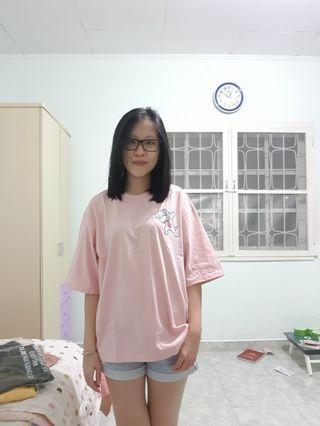 Oversizedtee pink