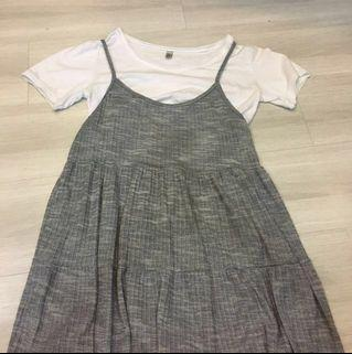overalls dress in grey