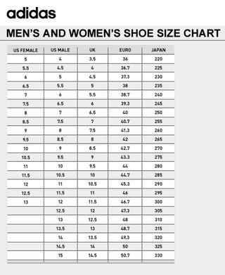 16. adidas shoe size chart, adidas women u s shoe size chart