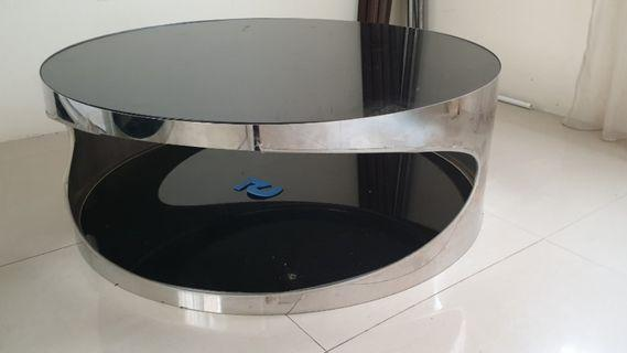 Round Coffee Table Tempered Glass