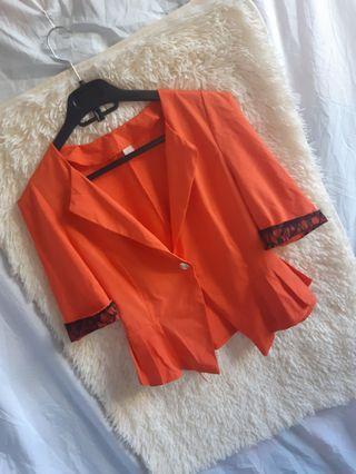 Tangerine soft korean blazer
