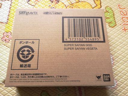 全新未開 日魂 SHF 超級撒亞人 藍 紅 神 比達 龍珠超 DRAGON BALL SUPER VEGETA SSGSS SUPER SAIYAN GOD