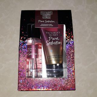Authentic Victoria Secret mist and lotion travel set