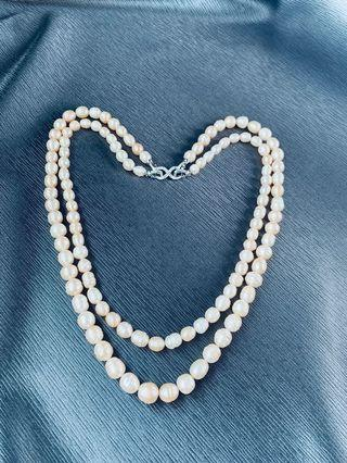 🚚 Real Pearl Necklace - multiple use( daily or events)