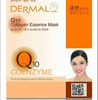 Authentic Korean Dermal Collagen Q10 Coenzyme Anti Aging Sheet Facial Essence Mask
