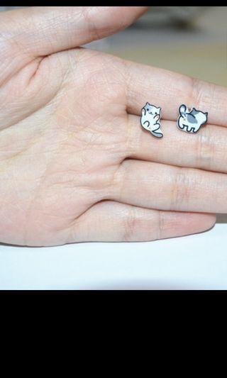 BN PO Cute Animal Ear Stud Earrings