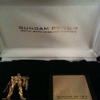 Ultra rare! Gold-plated Mobile Suit Gundam figurine limited edition MIB complete