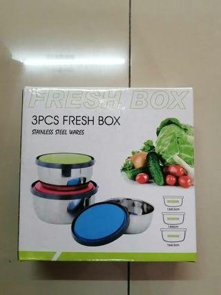 Stainless Steel Lunch Box x 3