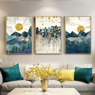 🚚 Geometric Mountain Landscape Wall Art