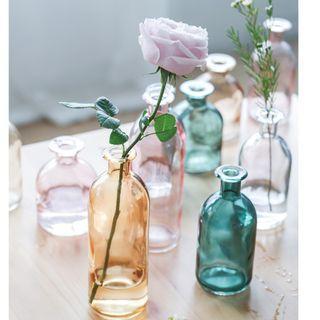 [Set of 2] Colourful Glass Vase