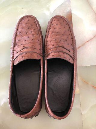 Tod's Gommino Loafers in Ostrich Leather