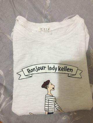 🚚 白色短袖T恤