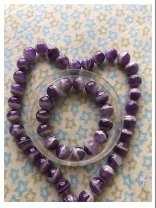 ✨ 現貨✨夢幻條紋紫水晶手珠(12mm)