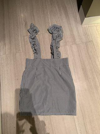 Gingham overall dress!