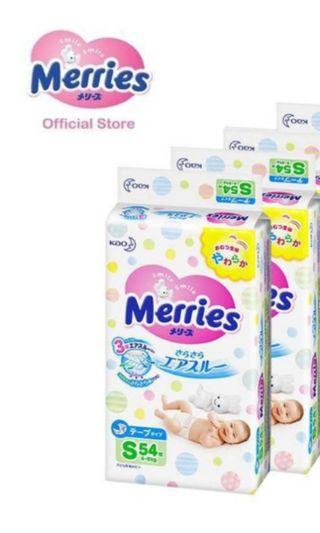 🚚 Merries Diapers (S Size)