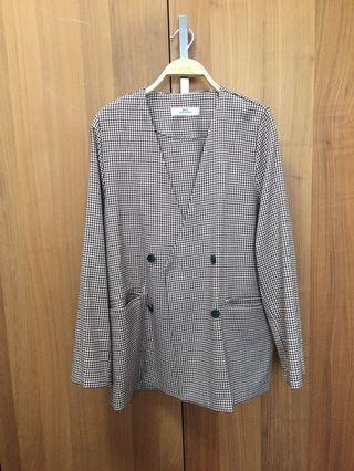 [Made in Korea] Checked coat