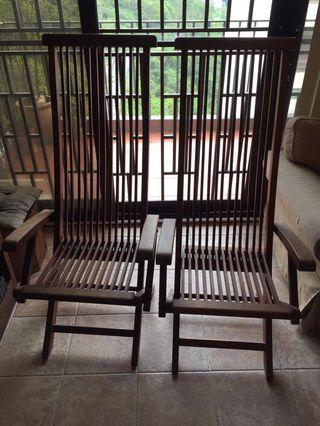 Beautiful Teak Wood Outdoor Chairs