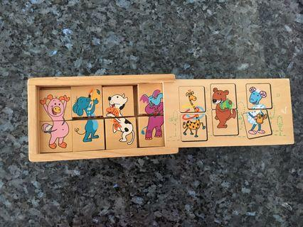 Wooden Puzzle - Animal (2 pieces puzzle)