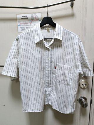 🚚 🇰🇷正韓棉麻條紋襯衫