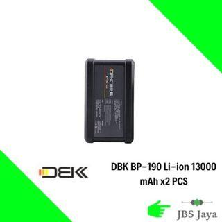 DBK BP-190 Li-ion 13000 mAh 190Wh V Mount Battery for Sony Video Camcorder/LED Light x2 UNIT