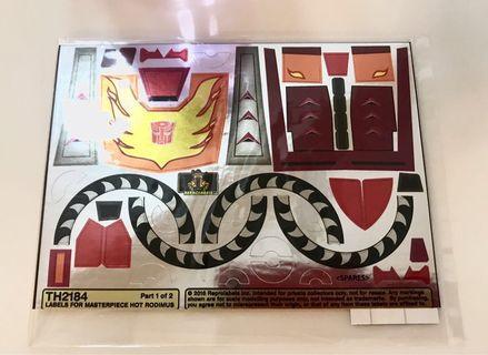 Transformers MP-28 Hot Rodimus Toyhax Reprolabels Stickers
