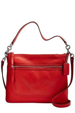 🚚 Poppy Pebbled Leather Perri Hippie Convertible Bag 22421M