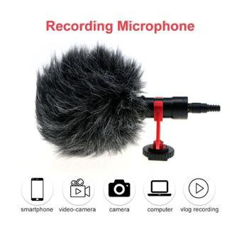 Moving Mic MC-MM1 Camera Video Microphone Recording Shotgun Mic with Shock Mount for Smartphone Camcorder