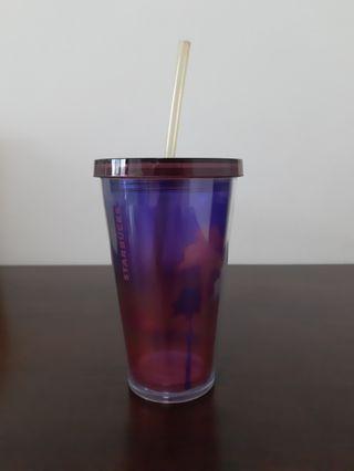 Starbucks tumbler with straw (16oz/473ml)