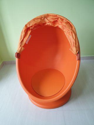Ikea ps lömsk swivel chair, orange