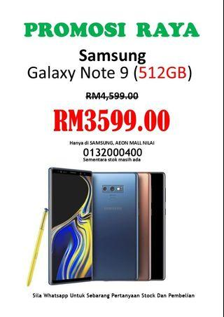 NEW SAMSUNG GALAXY NOTE 9 512gb / 8gb RAM Ori SME