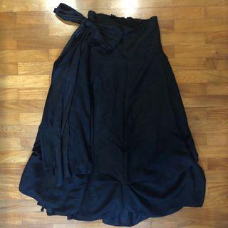 🚚 镜 Black Ribbon Skirt