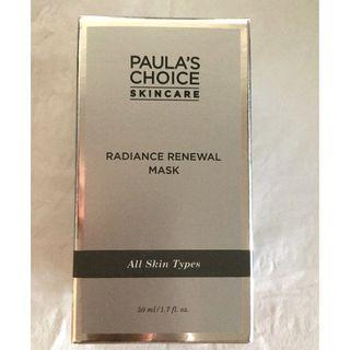 $33 with promo! Paula's Choice Radiance Renewal Mask BNIB